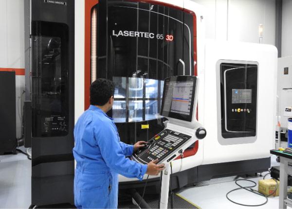 Man using lasertec 65