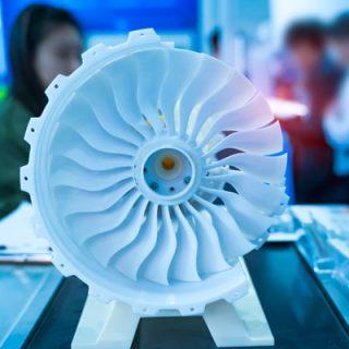 Jet engine printed model plastic