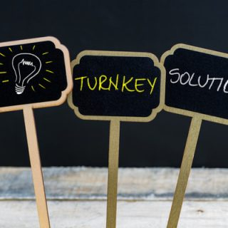 Turkney solution and light bulb sign