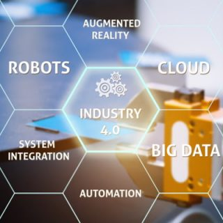 Industry 4.0 in virtual interface with smart factory